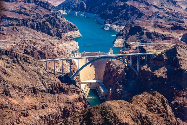Aerial Photography, Hoover Dam, Nevada, North America, Travel, United States