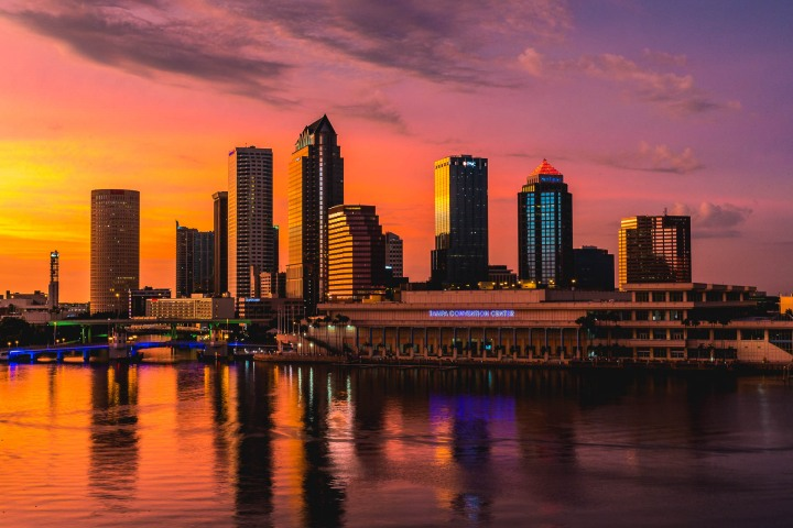 AGP Favorite, Florida, North America, Skyline, Sunset, Tampa, Travel, United States