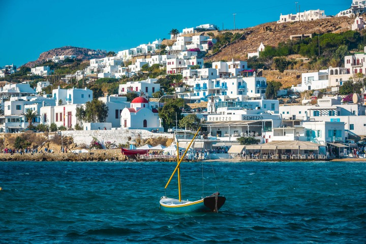 Europe, Greece, Harbour, Mykonos, Travel