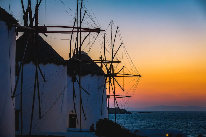 AGP Favorite, Europe, Greece, Mykonos, Sunset, Travel, Windmills