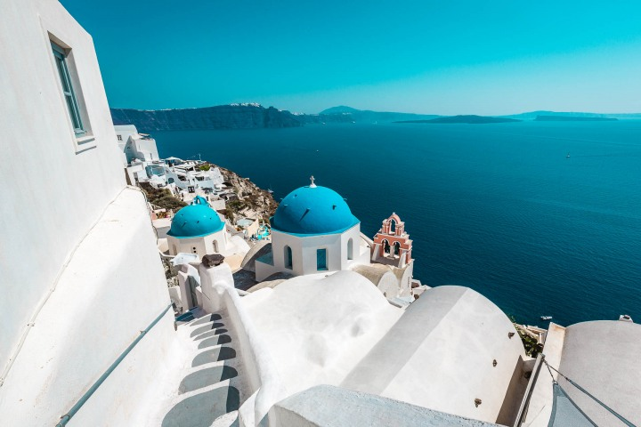 AGP Favorite, Blue domes, Europe, Greece, Oia, Santorini, Three domes, Travel