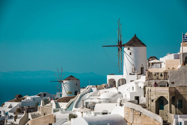 AGP Favorite, Europe, Greece, Oia, Santorini, Travel, Windmills