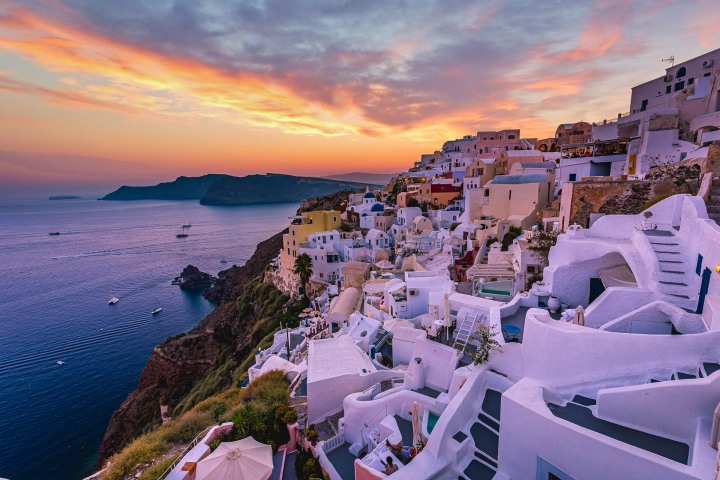 Europe, Greece, Oia, Santorini, Sunset, Travel