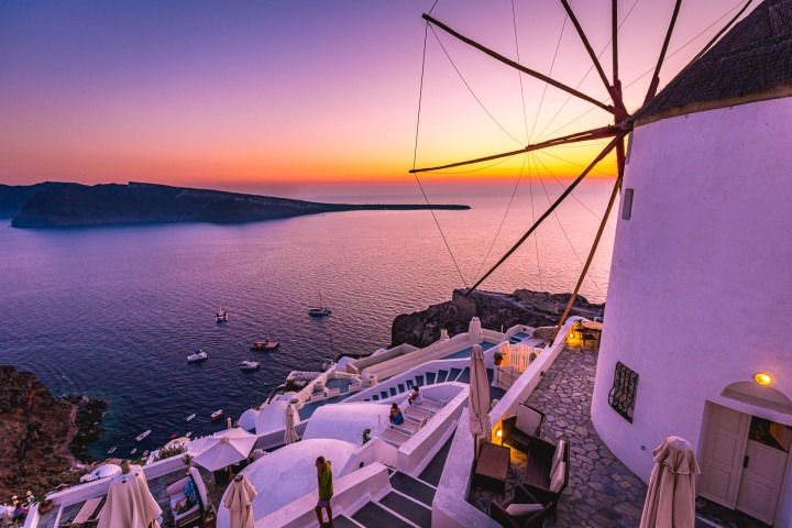 AGP Favorite, Europe, Greece, Oia, Santorini, Sunset, Travel, Windmills