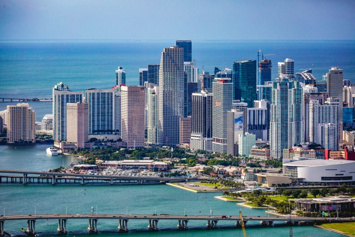 Aerial Photography, Downtown, Florida, Miami, North America, Skyline, Travel, United States