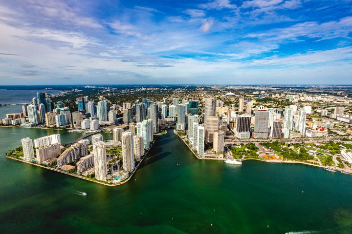 Aerial Photography, AGP Favorite, Downtown, Florida, Miami, North America, Skyline, Travel, United States