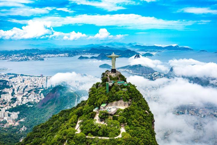 Aerial Photography, Brazil, Christ the Redeemer, Rio de Janeiro, South America, Travel