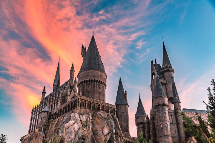 Diagon Alley, Florida, Harry Potter, Hogwarts School of Witchcraft and Wizardry, North America, Orlando, Sunset, Travel, United States