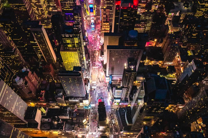 Aerial Photography, new York, New York City, North America, NYC, Times Square, Travel, United States
