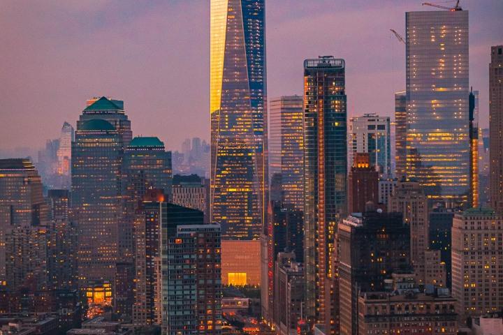 Aerial Photography, AGP Favorite, Manhattan, new York, New York City, North America, NYC, One World Trade Center, Skyline, Sunset, Travel, United States