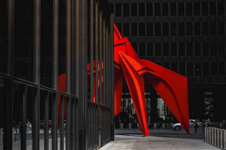 AGP Favorite, Calder's Flamingo, Chicago, Illinois, North America, Travel, United States