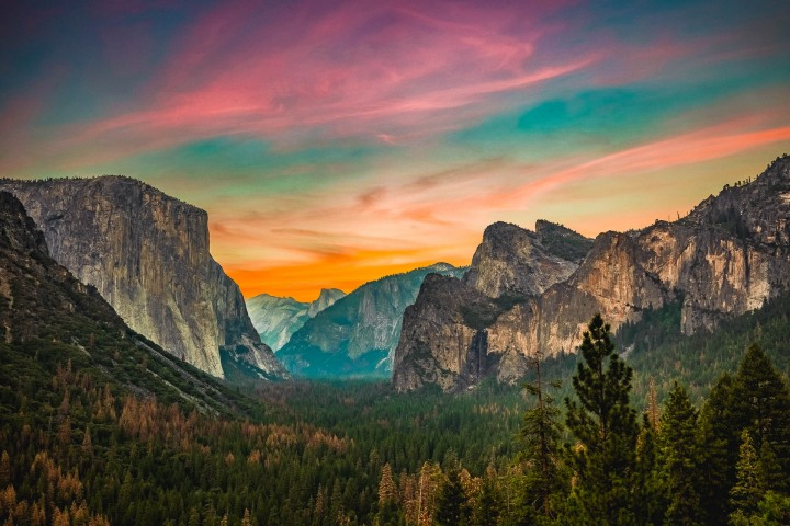 AGP Favorite, California, El Capitan, Half Dome, North America, Sunset, Travel, United States, Yosemite National Park