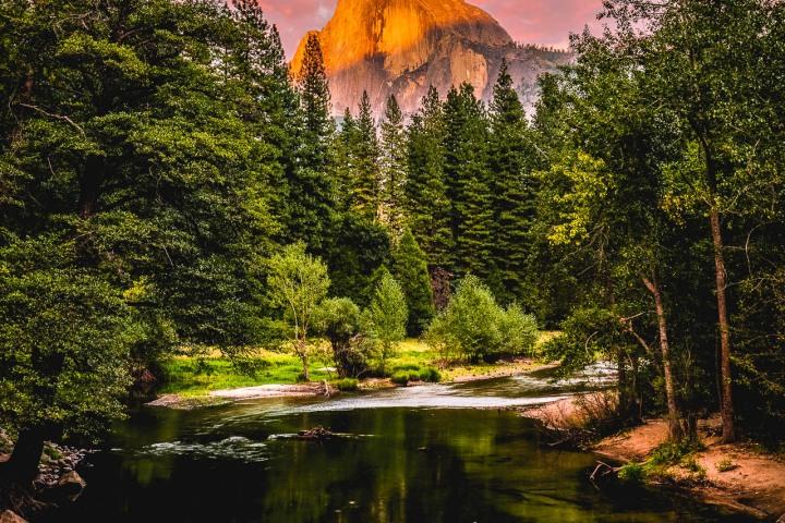 AGP Favorite, California, Half Dome, North America, Sunset, Travel, United States, Yosemite National Park