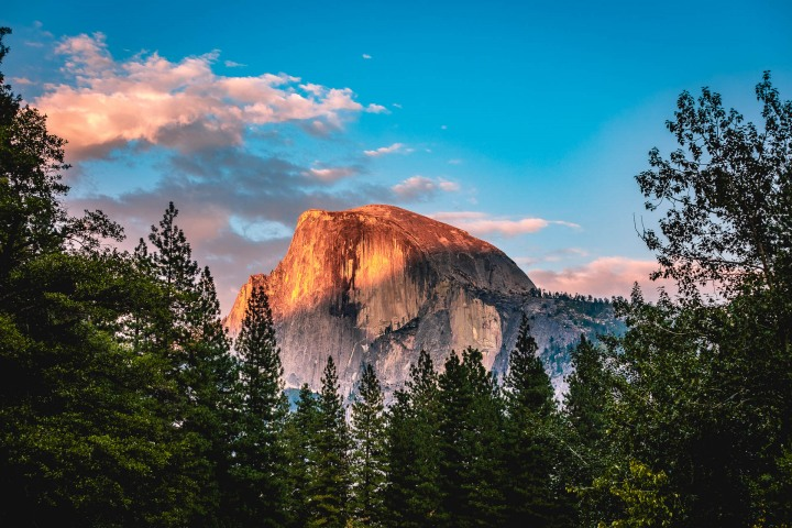 California, Half Dome, North America, Sunset, Travel, United States, Yosemite National Park
