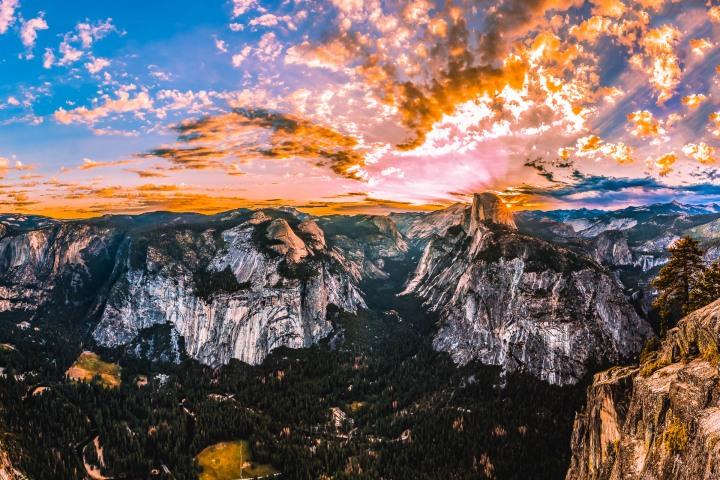 AGP Favorite, California, El Capitan, Half Dome, North America, Sunrise, Travel, United States, Yosemite National Park