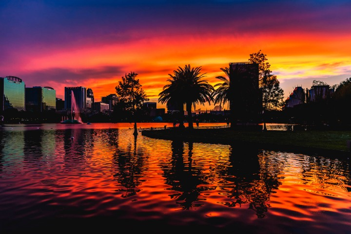 AGP Favorite, Downtown, Florida, Lake Eola, North America, Orlando, Skyline, Sunset, Travel, United States