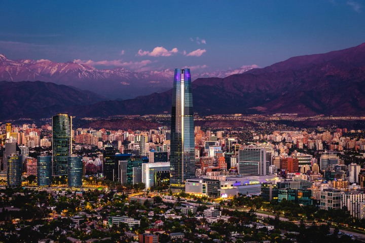 Chile, Downtown, Gran Torre Santiago, Santiago, Skyline, South America, Travel