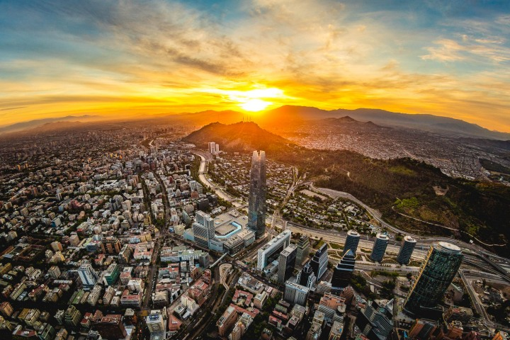 Aerial Photography, Chile, Gran Torre Santiago, Santiago, South America, Travel