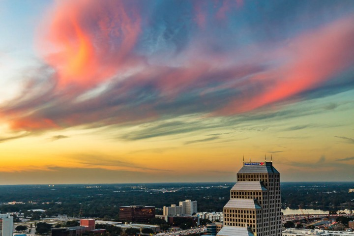 Downtown, Florida, North America, Orlando, Skyline, Sunset, Travel, United States