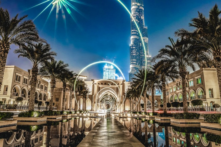Burj Khalifa, Dubai, Long Exposure, Middle East, Travel, United Arab Emirates