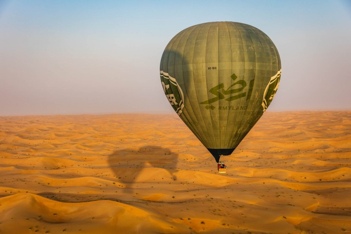 Desert, Dubai, Hot Air Balloon, Middle East, Safari, Travel, United Arab Emirates