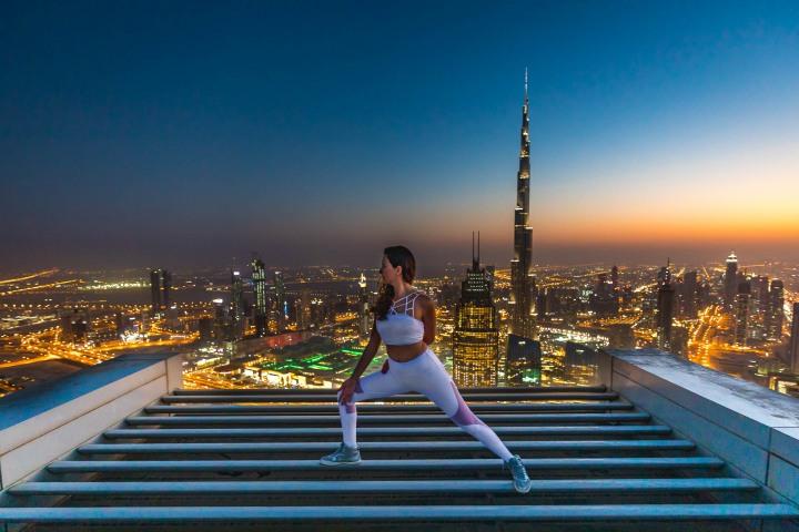 Burj Khalifa, Dubai, Middle East, Skyline, Sunset, Travel, United Arab Emirates