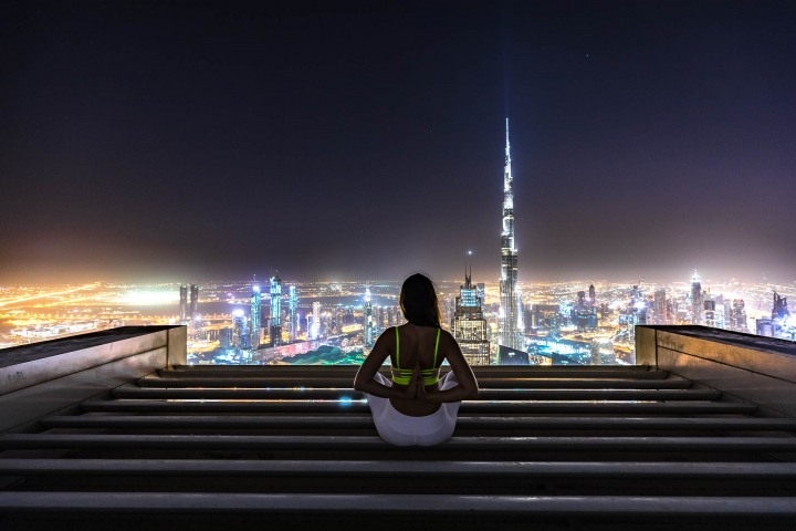 Burj Khalifa, Dubai, Middle East, Skyline, Travel, United Arab Emirates