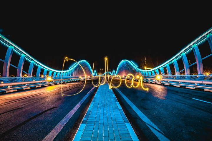 Dubai, Long Exposure, Meydan Bridge, Middle East, Travel, United Arab Emirates
