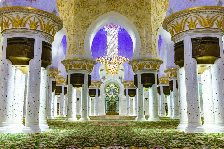 Abu Dhabi, Middle East, Sheikh Zayed Grand Mosque, Travel, United Arab Emirates
