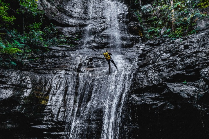 Abseiling, Australia, Blue Mountains, Canyoning, Travel, Waterfall