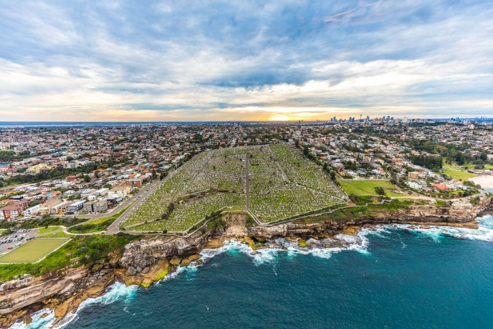 Aerial Photography, Australia, Sea Cliffs, Sydney, Travel, Waverley Cemetery
