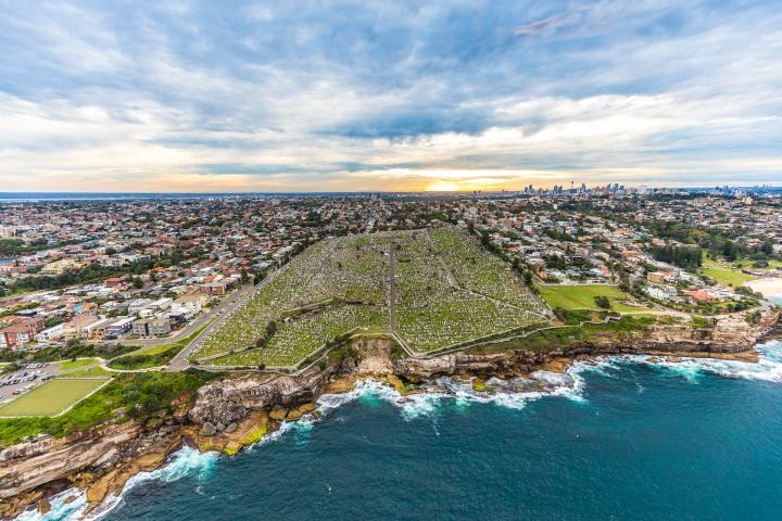 Aerial Photography, Australia, Sea Cliffs, Sydney, Travel, Waverley Cemetery