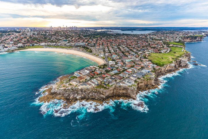 Aerial Photography, Australia, Bondi Beach, North Head, Sea Cliffs, Sydney, Travel