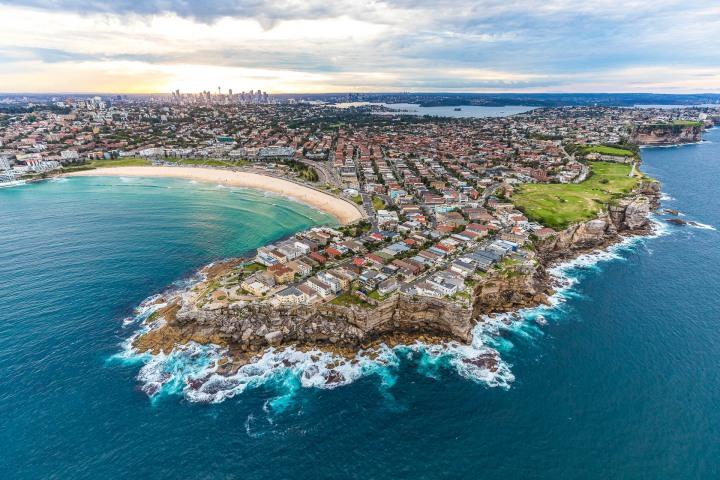 Aerial Photography, Australia, Bondi Beach, North Head, Sea Cliffs, Sydney, Travel