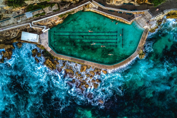 Aerial Photography, Australia, Bronte Baths, Sydney, Travel
