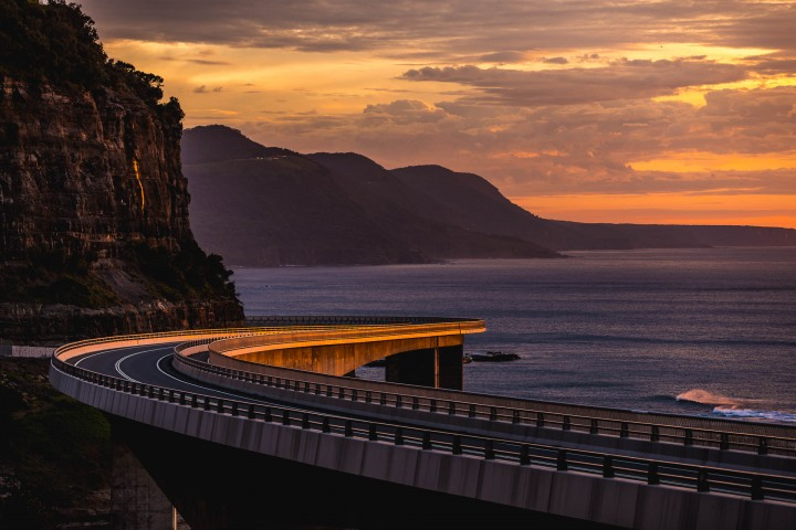 Australia, Sea Cliff Bridge, Sunrise, Travel