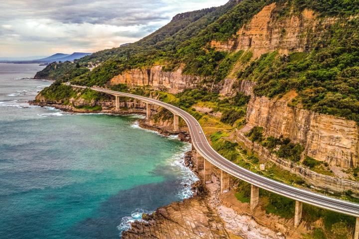 Aerial Photography, Australia, Sea Cliff Bridge, Sydney, Travel