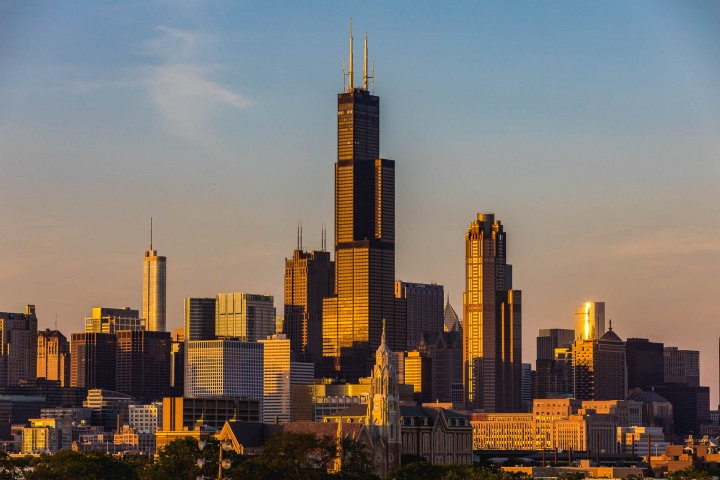 AGP Favorite, Chicago, North America, Sears Tower, Sunset, Travel, United States