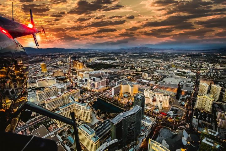 Aerial Photography, AGP Favorite, Las Vegas, Nevada, North America, Sunset, Travel