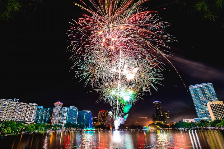 4th of July, AGP Favorite, Fireworks, Florida, North America, Orlando, Skyline, Travel