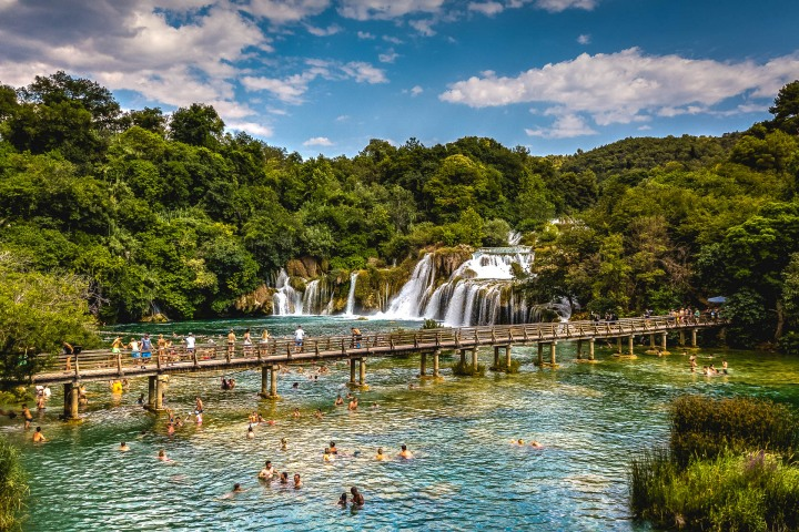 Aerial Photography, Croatia, Europe, Krka National Park, Travel, Waterfall