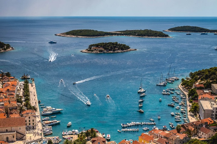 Croatia, Europe, Harbor, Hvar, Port of Hvar, Travel