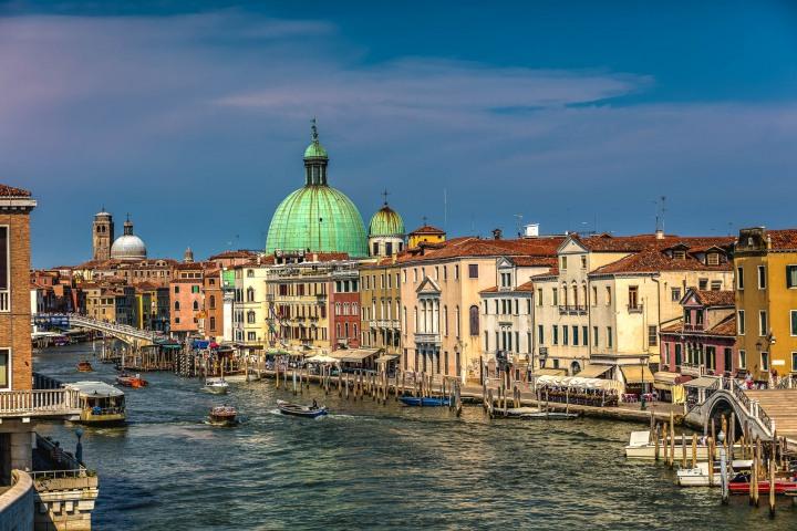 Canal, Chiesa di San Simeone Piccolo, Europe, Italy, Travel, Venetian Lagoon, Venice