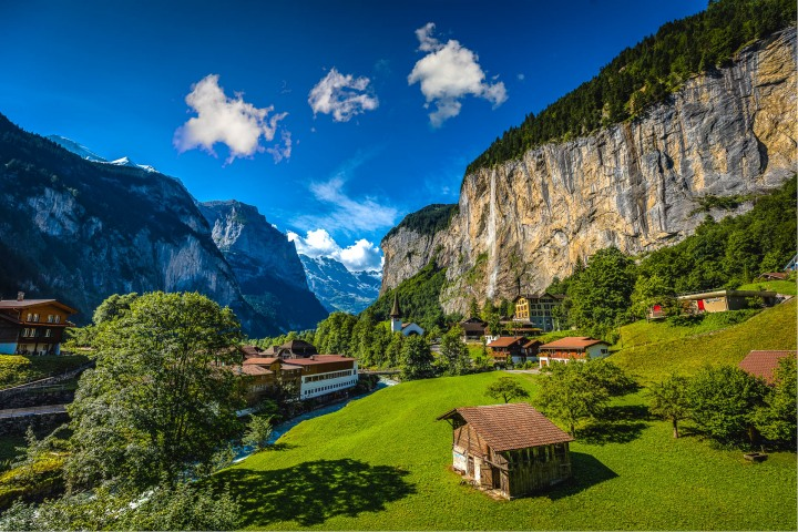AGP Favorite, Europe, Interlaken, Lauterbruunen, Mountains, Staubbach Waterfall, Switzerland, Travel