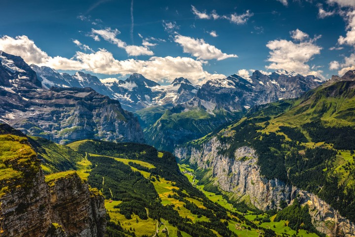 Aerial Photography, AGP Favorite, Europe, Interlaken, Lauterbruunen, Männlichen, Mountains, Switzerland, Travel