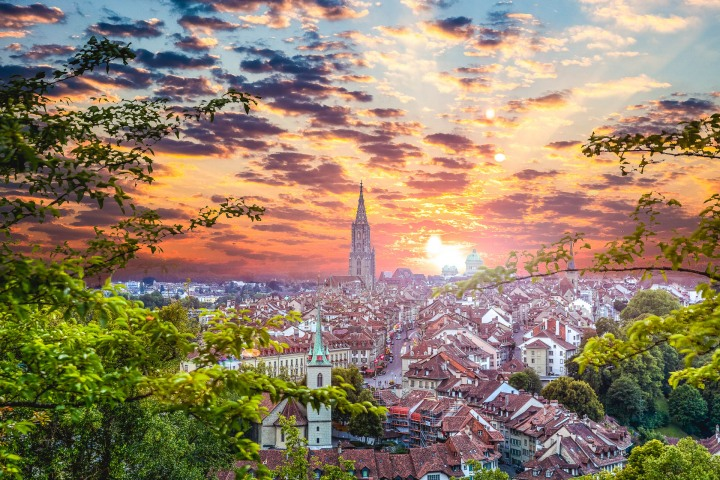 AGP Favorite, Bern, Europe, Sunset, Switzerland, The Cathedral of Bern, Travel