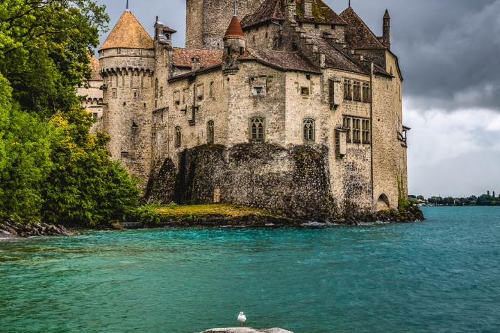 Chillon Castle, Europe, Geneva, Switzerland, Travel