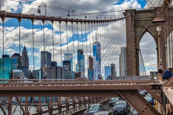 Brooklyn Bridge, New York City, North America, NYC, One World Trade Center, Travel