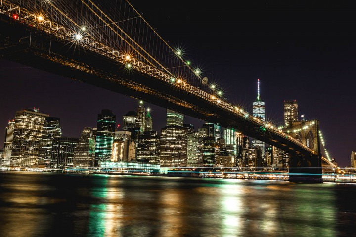 Brooklyn Bridge, Long Exposure, New York City, North America, NYC, One World Trade Center, Skyline, Travel