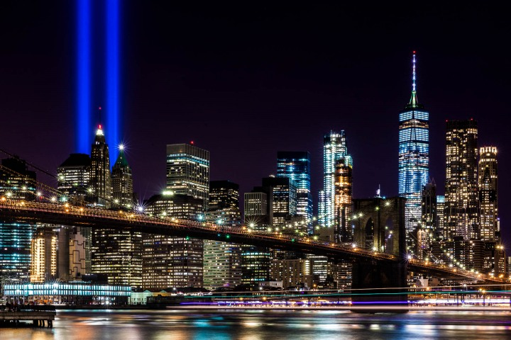 9/11 Memorial, AGP Favorite, Brooklyn Bridge, New York City, North America, NYC, One World Trade Center, Skyline, Travel